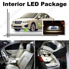 For Subaru Impreza WRX 2004-16 Xenon White LED Interior kit +White License Light