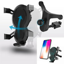Qi Wireless Car Quick Charger 5V/2A Phone Holder Mount for iPhone XR Samsung S9