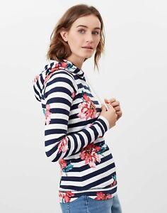 Joules Womens Marlston Print Hooded Sweatshirt - Cream Floral