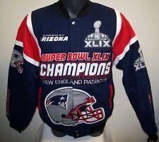 NEW ENGLAND PATRIOTS Super Bowl XLIX Cotton Championship Jacket  MED, XL, XXL 4X