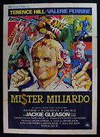 Werbeplakat Mister Milliarde Terence Hill Valerie Perrine Jackie Gleason