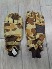 vintage CABELAS hunting GLOVES leather CAMO mens SMALL