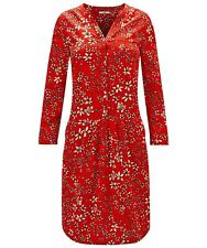 Joe Browns Size 10 Red Little Bit Different Tunic DRESS Quirky Floral Print £40