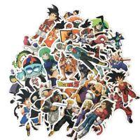 50Pcs Anime Dragon Ball Z Super Saiyan Goku Sticker Decals For Skateboard Laptop