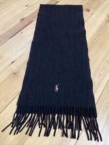 Ralph Lauren Polo Schal in schwarz 100% Schafswolle - Nice