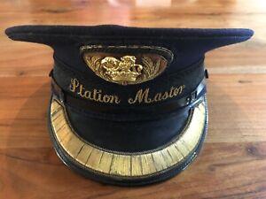 New Never Worn Vintage GWR British Railway Steam Locomotive Station Masters Hat