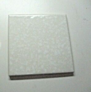 """Florida USA FT 4-3/8"""" Ceramic Dimpled White Pearl on Beige 1 Wall Tile Vintage"""