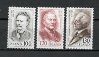 S34092 Island Iceland MNH 1979 Famous Musicians 3v