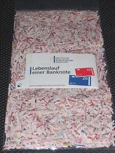 Euro Schreddergeld, zerschredderte Euro Banknoten, mehrere Tausend Euro, XL Pack