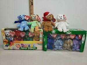 Ty Jingle Beanies - Clubby & Decade Sets in Original Boxes + 4 out of boxes.