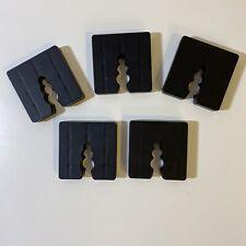 5 Stück Distanzklötze Kunststoff Abstandhalter Unterleger Trageklötze 10mm black