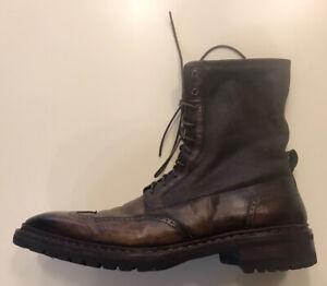 Santoni Schuhe/Stiefelette/Stiefel/Chelsea Boots. Leder. Braun. Größe 45 /11.