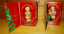 Vintage Goebel Hummel Pair of Boxed Boy and Girl Ornaments #1493 & #1387