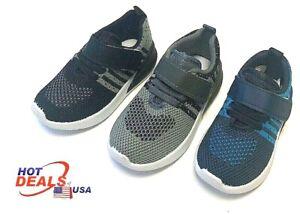 New Boy Baby Toddler Tennis Athletic Sport Shoes Hoop & Loop Fastener Outdoor