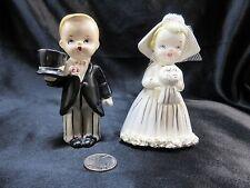 VINTAGE NAPCO JAPAN 1955-1965 ADORABLE BRIDE and GROOM SALT AND PEPPER SHAKERS
