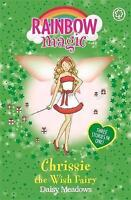 Chrissie the Wish Fairy (Rainbow Magic) by Daisy Meadows, Good Used Book (Paperb