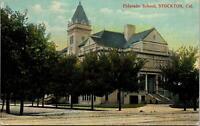 Stockton CA El Dorado School Postcard unused 1900s/10s