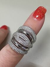 Victoria Wieck Vintage style 236PC 14KT White gold filled ring size 6