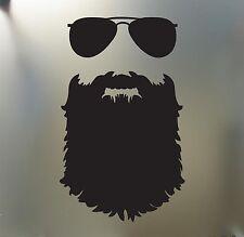 Beard sticker Funny glasses JDM Auto decal mustache hipster nerd