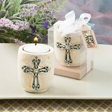 30 Cross Candle Tea Light Christening Baptism First Communion Party Event Favor