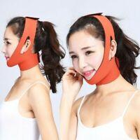 Facial Thin Face Slimming Bandage Mask Belt Shape Lift Reduce Double Chin-RO