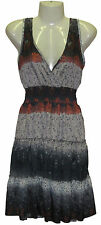 Halter Sun Dress Fits S M L Cocktail Party Mutli-Color Empire Waist Smocked NWT