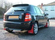Rally Style Mudflaps to fit SKODA FABIA VRS MK2 Mud Flaps -Red 4mm PVC