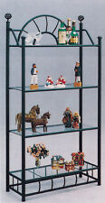 Brand New 72'H Comtemporary 4-Tier Metal Wall Stand Rack in Black Color - Asdi