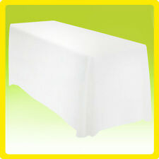 90x156 Tablecloth Table Cover Rectangle Wedding Banquet Event Show - White