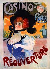 Casino de Paris Vintage French Nouveau France Poster Print Art Advertisement
