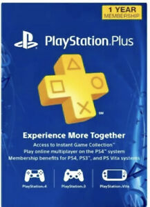 Sony PlayStation Plus PS 12 Month/ 1 Year Membership Subscription – USA