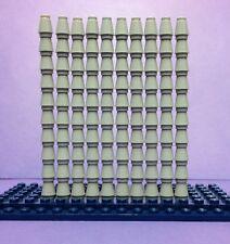 Lego 100 Light Grey Cone Bricks 1x1 Job Lot Cones Bundle City Star Wars Creator