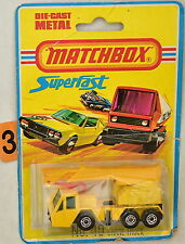 Matchbox Superfast No. 49 Gru Camion Inghilterra Bad Carta