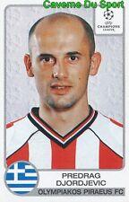 224 PREDRAG DJORDJEVIC SERBIA OLYMPIAKOS STICKER PANINI CHAMPIONS LEAGUE 2002