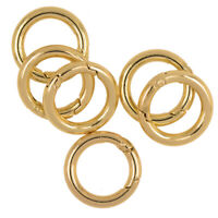 6 Stücke Mini Karabiner Schlüsselanhänger klein Karabinerhaken - Gold 25mm