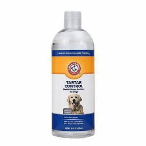 Arm  Hammer Dog Dental Care Dental Tartar Control Water Additive for Dogs | Red