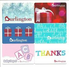 Lot (6) Burlington Coat Factory Gift Cards No $ Value Collectible