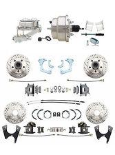 1965-68 Chevy Impala 4 Wheel Disc Brake Conversion Kit w/ Chrome Booster Kit