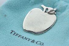 Tiffany & Co. Sterling Silver Vintage Plain Engravable Apple Charm Pendant