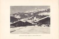 Heliogravure Savoie Notre Dame de Bellecombe et le Mont Charvin G.L.ARLAUD  1930