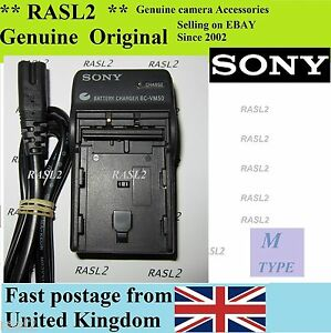 Genuine Sony BC-VM50 Charger For M Type battery,CCD-TRV 138 338 DCR-DVD 101 201