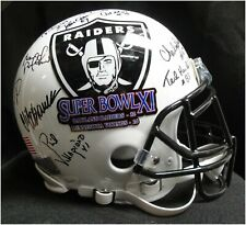 Team Signed Auto Authentic Full Size Helmet Oakland Raiders Super Bowl XI JSA