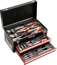 """YATO Werkzeugkasten 80-teilig 1/4 """"1/2"""" Werkzeugkoffer Werkstattbox Toolbox"""