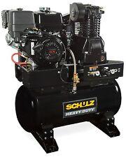 SCHULZ AIR COMPRESSOR - 13HP HONDA GX390 - GAS DRIVE - SERVICE TRUCK SPECIAL
