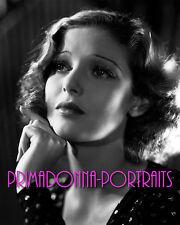 Loretta Young 8X10 Lab Photo B&W 1930s Sorrowful Glamour Kitten Portrait
