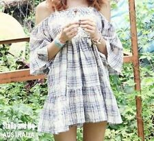 Cotton Blend Check Casual Dresses for Women