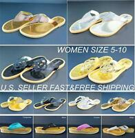 Women's Flip Flops Thong Slippers Shoes Sandals Flats Summer Casual Beach Relax
