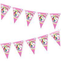 Unicorn Bunting Banner x10 Pennant Flag Hanging Garland Birthdays Party