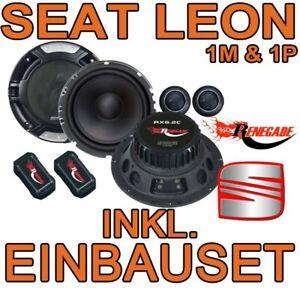 Seat Leon 1M & 1P  FRONT-HECK  LAUTSPRECHER 16cm BOXEN EINBAUSET ERSATZ NEU