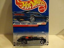 2000 Hot Wheels #92 Black/Silver Austin Healy w/5 Spoke Wheels